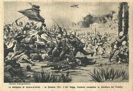"""4473 """"LA BATTAGLIA DI SARA-EL-SCIAT-26/10/1911-L'84° REGG. FANT. CONQUISTA LA BANDIERA DEL PROFETA""""-CART.ORIG.NON SPED - Militari"""