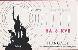 QSL Card Amateur Radio Station CB Funkkarte Hungary István Dobó Magyarország Eger - Radio Amateur