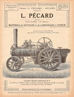 CATALOGUE  PUBLICITAIRE  BATTEUSE ET LOCOMOTIVE  PECARD 1926 - Reclame