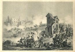 """4474 """"COMBATTIMENTO DI GOITO-8 APRILE 1848(MUSEO RISORGIMENTO)""""-CART. POST. ORIG. NON  SPED - Militari"""