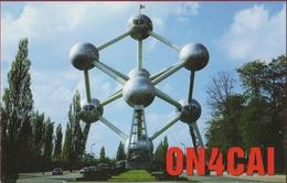 QSL Card Amateur Radio Station CB Funkkarte Belgie Brussel Bruxelles Atomium 1998 Belgium Maurice Verlinden Westmalle - Radio Amatoriale