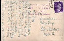 ! Ansichtskarte 1943, 3. Reich, KLV Lager Niederdonau 60, Gasthof Dangl, Kreis Melk, Österreich, Gelaufen N. Plön, - Allemagne