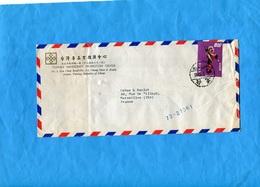 TAIWAN-Lettre Pour Françe-cad 1973 TAIPEI-Stamp N° 872 Statuette - 1945-... République De Chine
