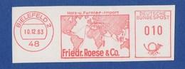 BRD AFS - BIELEFELD, Friedr. Roese & Co. - Holz- U. Funier-Import 10.12.63 - Aardrijkskunde
