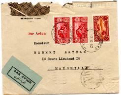 Lettre Par Avion De Beyrouth (7.10.1932) Pour Marseille - Liban