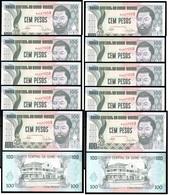 Guinea-Bissau - 10 Pcs X 100 Pesos 1990 P. 11 UNC Lemberg-Zp - Guinea-Bissau