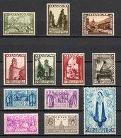 BELGIE 1933 GRANDE ORVAL AVEC 12 VALEURS  VLH* TRACE MINNIEM PD CHARNIERE TB VF GOMME ORIGINE POSTALE - Unused Stamps