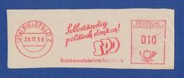 BRD AFS - BIELEFELD, Selbständig Politisch Denken! SPD - Sozialdemokratische Partei Deutschlands 29.12.59 - Vereine & Verbände