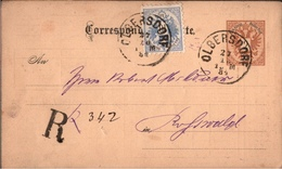 ! Schöne  Ganzsache Als Einschreiben, Olbersdorf Schlesien 1884, Eisenbahn, Registered, Correspondenz-Karte Österreich - Entiers Postaux