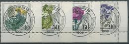 Bund 1980 Wohlfahrt Gef. Ackerwildkräuter 1059/62 Ecke U. Rechts FN Gest. (E53) - Gebraucht