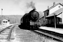 Bertholène. Ligne Rodez - Séverac. Locomotive 141 TA 366. Cliché Jacques Bazin. 30-04-1958 - Trains