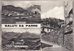 CARTOLINA - BERGAMO - PARRE - SALUTI DA PARRE - VIAGGIATA PER MILANO - Bergamo