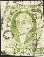 J) 1856 MEXICO, HIDALGO, 2 REALES, YELLOW GREEN, ZACATECAS DISTRICT, BLACK BOX CANCELLATION, MN - Mexico