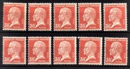 FRANCE 1922 / 1926 - LOT 10 TP / Y.T. N° 173  - NEUFS** - Nuevos