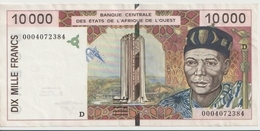 WEST AFRICAN STATES P. 414Dh 10000 F 2000 XF - Mali