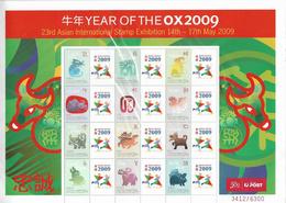 Christmas Island 2009 23rd Asian International Exhibition LNY Sheet Unmounted Mint [L0003/D] - Christmas Island