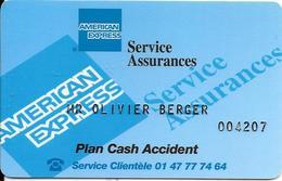 CARTE-ABONNES-AMERICAN EXPRESS-SERVICE ASSURANCES --TBE/RARE - Frankreich