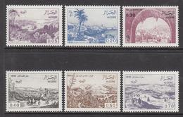 1984 Algeria Algerie Definitives Views Complete Set Of 6 MNH - Algerije (1962-...)