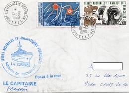 LSC 1990 - T.A.A.F. Cachet Port Au Français / KERGUELEN - Griffe LA CURIEUSE Mission De Recherche - YT 122 & YT 141 - Cartas
