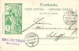 PK 31  UPU  Basel - Schaffhausen         1900 - Entiers Postaux