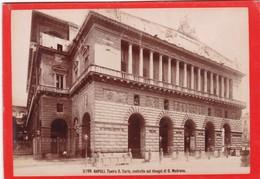 CIRCA 1870s GIACOMO BROGI: NAPOLI. TEATRO S.CARLO-ALBUMINA FOTO INCOLLATA CARTONCINO ARANCIO 16x11cm - BLEUP - Foto