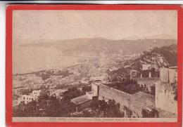 CIRCA 1870s GIACOMO BROGI: NAPOLI. POSILIPO E RIVIERA DI CHIAIA - OLD ALBUMINA FOTO 16x11cm ORIGINAL- BLEUP - Foto