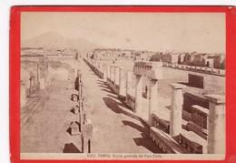 1870s GIACOMO BROGI: POMPEI. VEDUTA GENERALE DEL FORO CIVILE - OLD ALBUMINA FOTO 16x11cm ORIGINAL- BLEUP - Foto