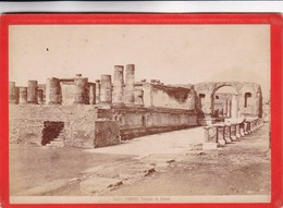 1870s GIACOMO BROGI: POMPEI. TEMPIE DI GIOVE - OLD ALBUMINA FOTO 16x11cm ORIGINAL- BLEUP - Foto