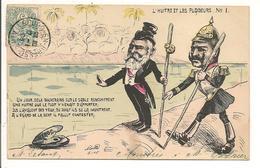 """Illustrateur MILLE """" L'HUITRE Et LES PLAIDEURS"""" N° 1, Edouard VII Guillaume II, Politique Satirique - Satirische"""