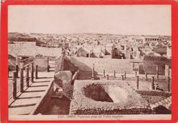 1870s GIACOMO BROGI: POMPEI. PANORAMA PRESO DAL TEATRO MAGGIORE - OLD ALBUMINA FOTO 16x11cm ORIGINAL- BLEUP - Foto