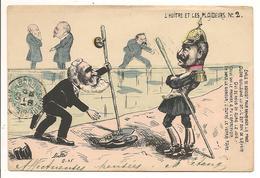 """Illustrateur MILLE """" L'HUITRE Et LES PLAIDEURS"""" N° 2, Edouard VII Guillaume II, Politique Satirique - Satirische"""