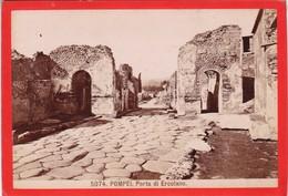 1870s GIACOMO BROGI: POMPEI.PORTA DI ERCOLANO - OLD ALBUMINA FOTO 16x11cm ORIGINAL- BLEUP - Foto