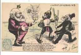 """Illustrateur MILLE """" L'HUITRE Et LES PLAIDEURS"""" N° 5, Edouard VII Guillaume II Emile Loubet, Politique Satirique - Satirische"""