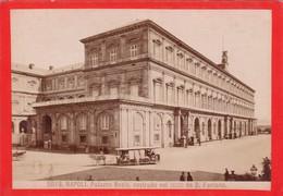 1870s GIACOMO BROGI: NAPOLI. PALAZZO REALE CONSTRUITO DA D.FONTANA - OLD ALBUMINA FOTO 16x11cm ORIGINAL- BLEUP - Foto