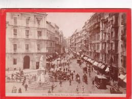1870s GIACOMO BROGI: NAPOLI. STRADA ROMA GIA TOLEDO, VEDUTA ANIMATA - OLD ALBUMINA FOTO 16x11cm ORIGINAL- BLEUP - Foto