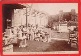1870s GIACOMO BROGI: POMPEI. TEMPIO DEL GENIO D'AUGUSTO, DETTO DI MERCURIO - OLD ALBUMINA FOTO 16x11cm ORIGINAL- BLEUP - Foto