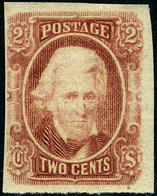 Confederate States #8 SUPERB Mint Hinged Andrew Jackson From 1863 - 1861-65 Confederate States