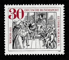 GERMANY 1971 Martin Luther/Diet Of Worms: Single Stamp UM/MNH - Theologians