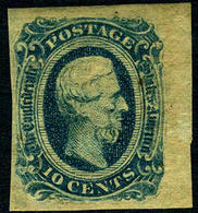 Confederate States #11 VF Mint No Gum  Jefferson Davis  From 1863-1864 - 1861-65 Confederate States