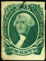 Confederate States #13 USED George Washington From 1863 - 1861-65 Confederate States