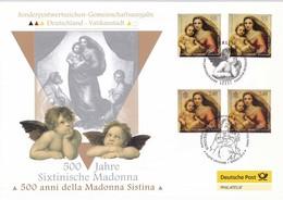 2012 - VATICANO-GERMANIA, Madonna Raffaello, Emissione Congiunta - FDC - Emissioni Congiunte