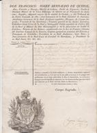 SPAIN Passport – 1827 - ESPAGNE Passeport - Reisepaß - Documentos Históricos