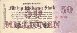 50 MIo Reichsbanknote VF/F (III) - [ 3] 1918-1933: Weimarrepubliek