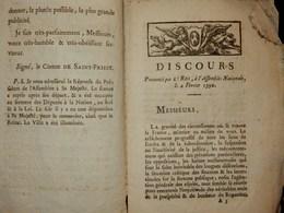 RARE ET ANCIEN DOCUMENT LETTRE ÉCRITE LE 05 FÉVRIER 1790 COMTE DE SAINT PRIEST PARIS DISCOURS ROI ASSEMBLÉE NATIONALE - Decretos & Leyes