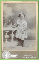 Pontevedra - REAL PHOTO De Cartón - Cartonada - Fotógrafo J. Pintos - Chica - Children - Enfant - Vigo - Galicia España - Portraits