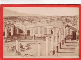 1870s GIACOMO BROGI: POMPEI. CASA DEL NUOVO FAUNO, SCAVI NUOVI - OLD ALBUMINA FOTO 16x11cm ORIGINAL- BLEUP - Foto