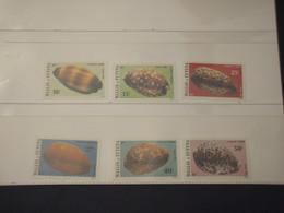 WALLIS FUTUNA - 1982 CONCHIGLIE 6  VALORI - NUOVI(++) - Wallis E Futuna