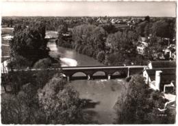 CPSM 03 (Allier) Dompierre-sur-Besbre - Le Pont Sur La Besbre TBE 2 Scans Timbre Aigues-Mortes - Frankreich