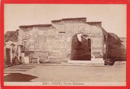 1870s GIACOMO BROGI: POMPEI. TERME STABIANE - OLD ALBUMINA FOTO 16x11cm ORIGINAL- BLEUP - Foto