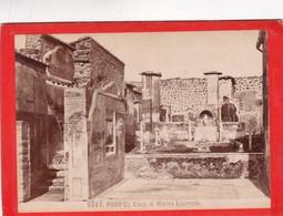 1870s GIACOMO BROGI: POMPEI. CASA DIO MARCO LUCREZIO - OLD ALBUMINA FOTO 16x11cm ORIGINAL- BLEUP - Foto